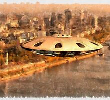 Flying Saucer by Raphael Terra by esotericaart