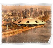 Flying Saucer by Raphael Terra Poster