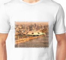 Flying Saucer by Raphael Terra Unisex T-Shirt
