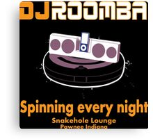 DJ ROOMBA Canvas Print
