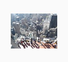 Taking Photos of New York City from Top of the Rock Observation Deck, New York City Unisex T-Shirt
