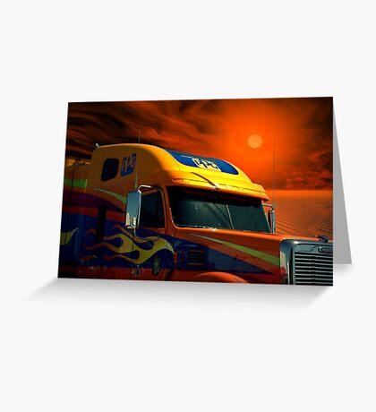 2008 Freightliner Coronado Semi Truck Greeting Card