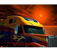 2008 Freightliner Coronado Semi Truck Photographic Print
