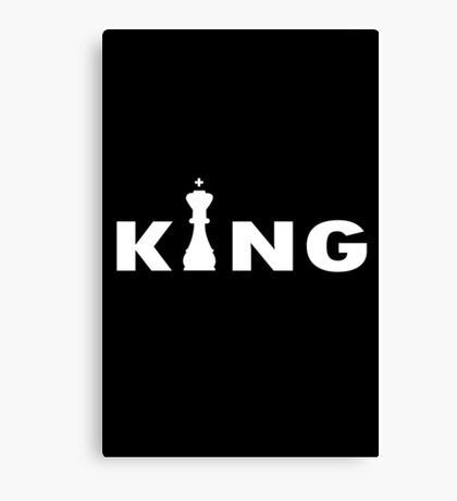 Cool king typography chess geek funny nerd Canvas Print