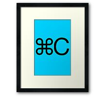 Copy apple c mac twin geek funny nerd Framed Print