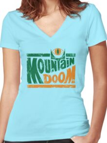Mountain Doom v2 Women's Fitted V-Neck T-Shirt