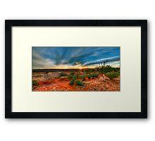 Outback skys Framed Print