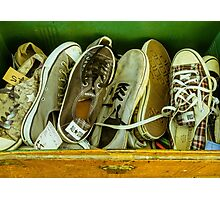 Box of old converse Photographic Print