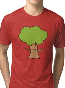Cute tree geek funny nerd Tri-blend T-Shirt