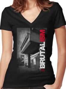Brutalism #2 Women's Fitted V-Neck T-Shirt