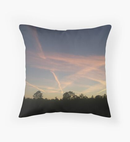 Chemtrails??? Throw Pillow