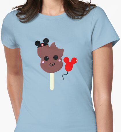 Kawaii Pixel Mickey Premium Ice Cream Bar Womens Fitted T-Shirt
