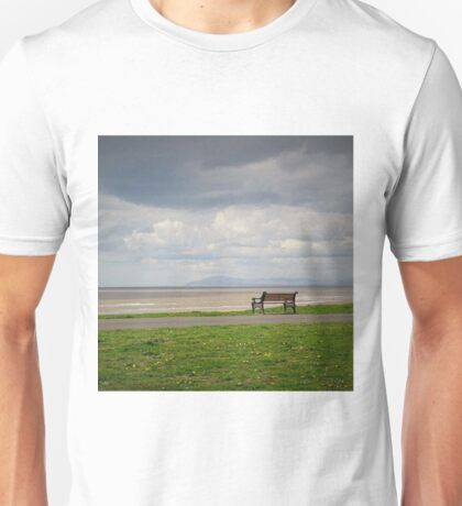 The Lonely Bench And The Distant View Unisex T-Shirt