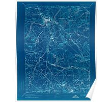 Massachusetts  USGS Historical Topo Map MA Lawrence 352796 1893 62500 Inverted Poster