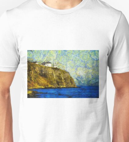 Starry Blackhead Lighthouse Unisex T-Shirt