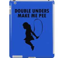 Double unders make pee geek funny nerd iPad Case/Skin