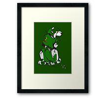 Green Voltron Lion Cubist Framed Print