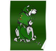 Green Voltron Lion Cubist Poster