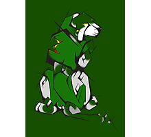 Green Voltron Lion Cubist Photographic Print