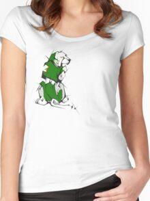 Green Voltron Lion Cubist Women's Fitted Scoop T-Shirt