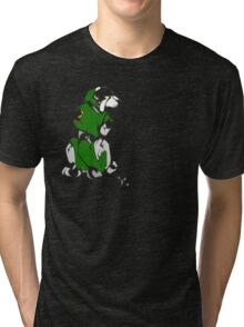 Green Voltron Lion Cubist Tri-blend T-Shirt