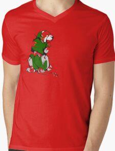 Green Voltron Lion Cubist Mens V-Neck T-Shirt