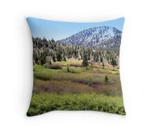 """High Sierra Meadow"" Throw Pillow"