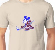 Mickey plays hockey geek funny nerd Unisex T-Shirt