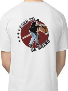 Hilarious biker playing on a stick horse  Classic T-Shirt