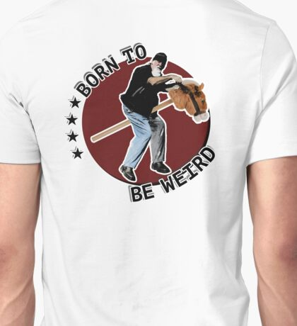 Hilarious biker playing on a stick horse  Unisex T-Shirt
