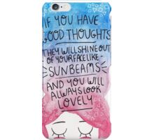 Good Thoughts iPhone Case/Skin
