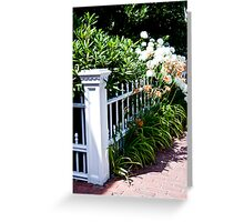 Blooming Fence Greeting Card