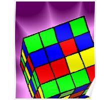Multi Coloured cube Sudoku game Poster