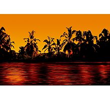 Tropical Sunset Paradise Photographic Print