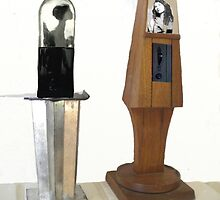 Two Assemblage Sculptures by Tom Golden
