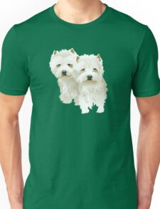 westies (mother and daughter) Unisex T-Shirt