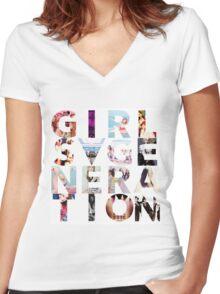 GIRLS´GENERATION Women's Fitted V-Neck T-Shirt