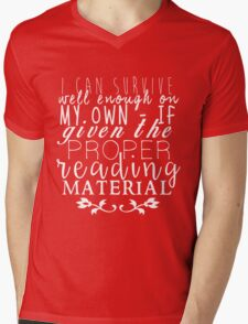 """""""If Given The Proper Reading Material"""" - Throne of Glass Mens V-Neck T-Shirt"""
