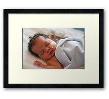 My New Granddaughter Born 27th Sept  Framed Print
