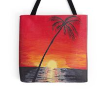Beach Sunset Acrylic Painting Tote Bag