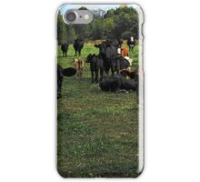 Don't try this at home..cow tipping..☺ iPhone Case/Skin