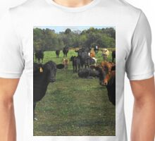 Don't try this at home..cow tipping..☺ Unisex T-Shirt