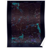 Massachusetts  USGS Historical Topo Map MA Hull 350219 1958 24000 Inverted Poster