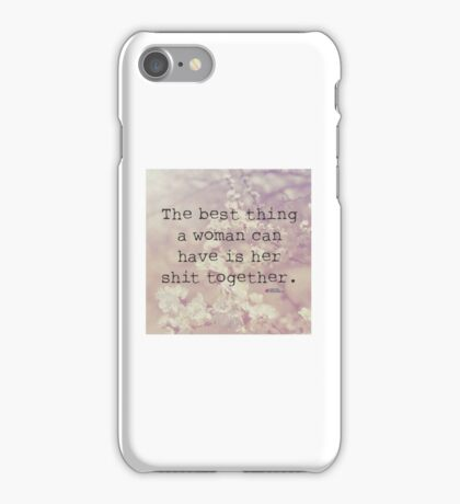 A Woman Can Have iPhone Case/Skin