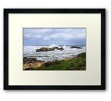 Rough seas at Peterborough Framed Print