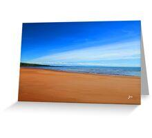 Harmonic Beach - Sand, Sea and Sky Greeting Card