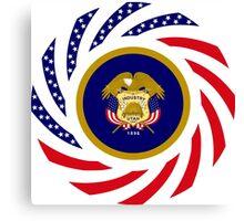Utah Murican Patriot Flag Series Canvas Print