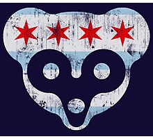 Chicago Flag Cub Face Photographic Print