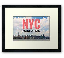 NYC Manhattan Framed Print