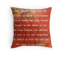 The Lord's Prayer II Throw Pillow